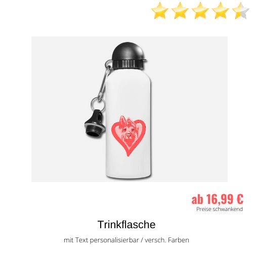 Schäferhund pink Trinkflasche