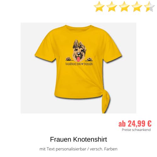 Schäferhund Frauen Knotenshirt