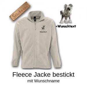 Fleece Jacke bestickt