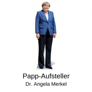 Pappaufsteller Merkel