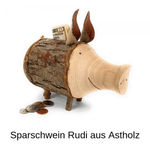 Sparschwein Rudi aus Astholz