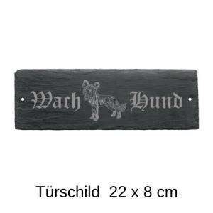 Türschild Hund 22 x 8 cm